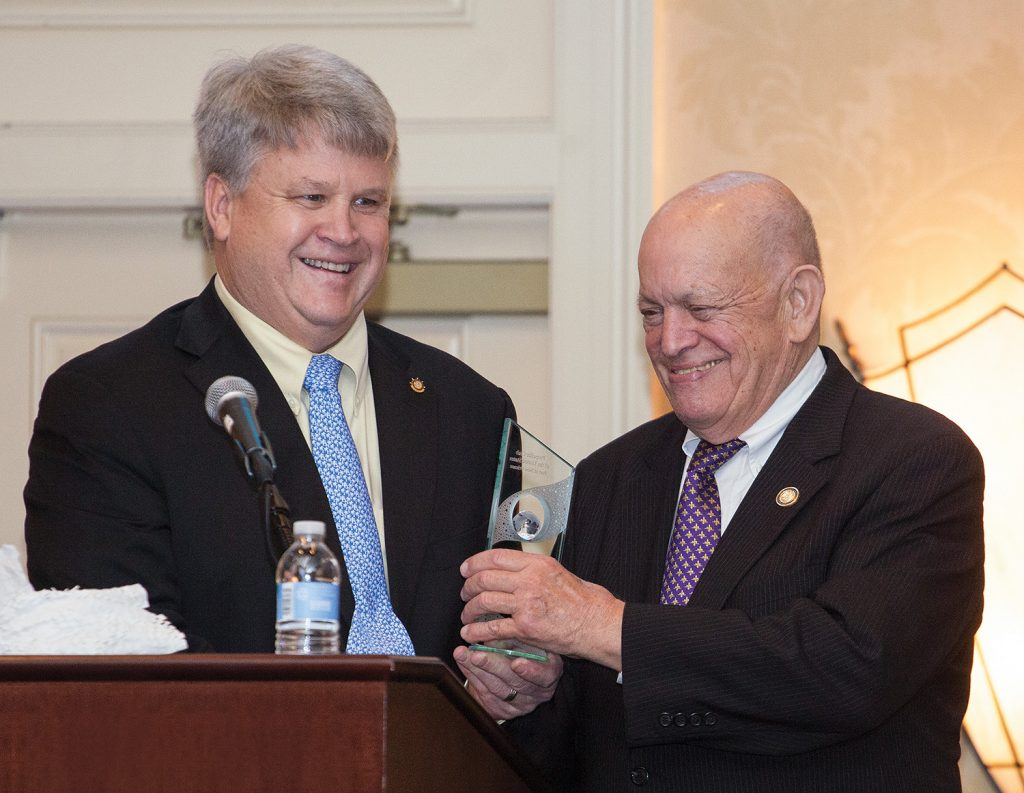Rusty Barkerding honored by New Orleans Propeller Club
