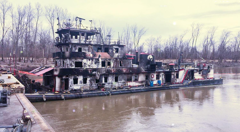 burned towboat George King