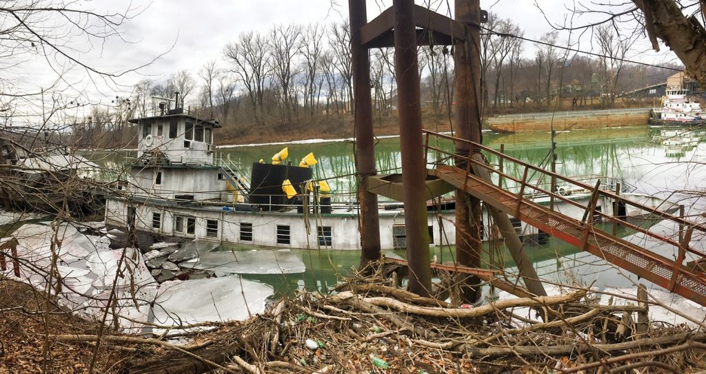 towboat Gate City sunk in Big Sandy