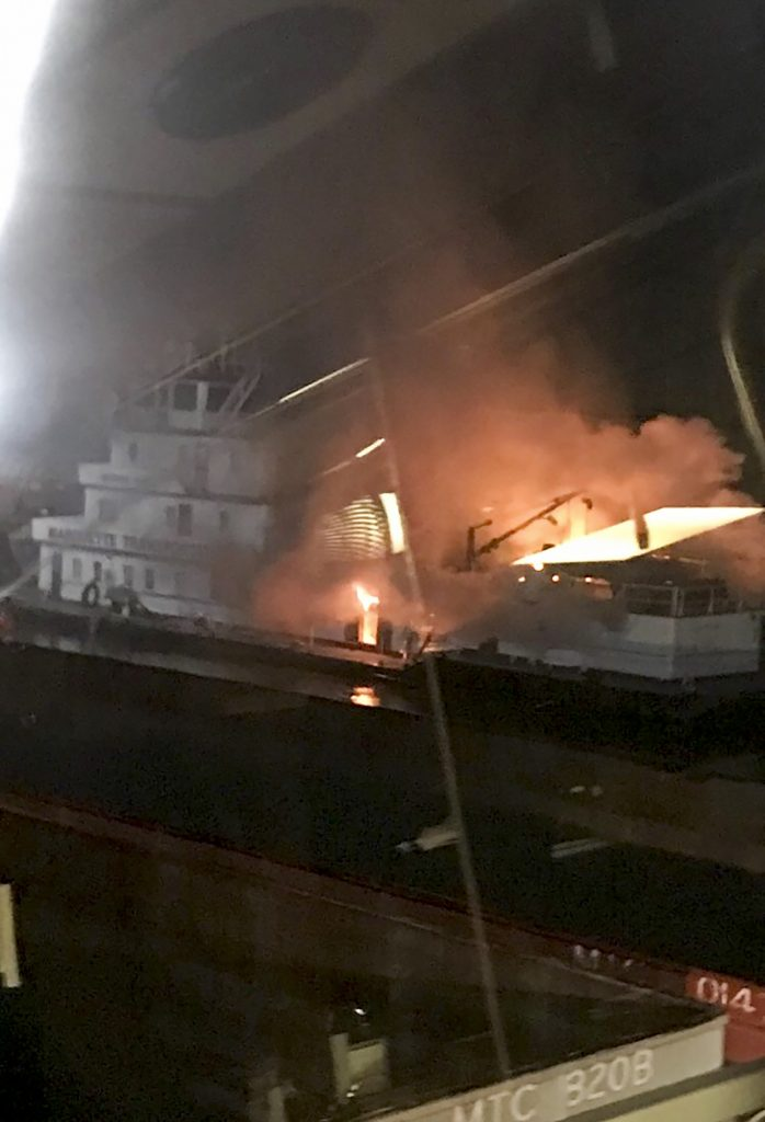towboat George King fire