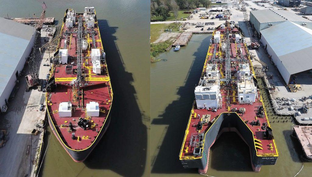 The 80,000-barrel barge was designed by Bristol Harbor Group.