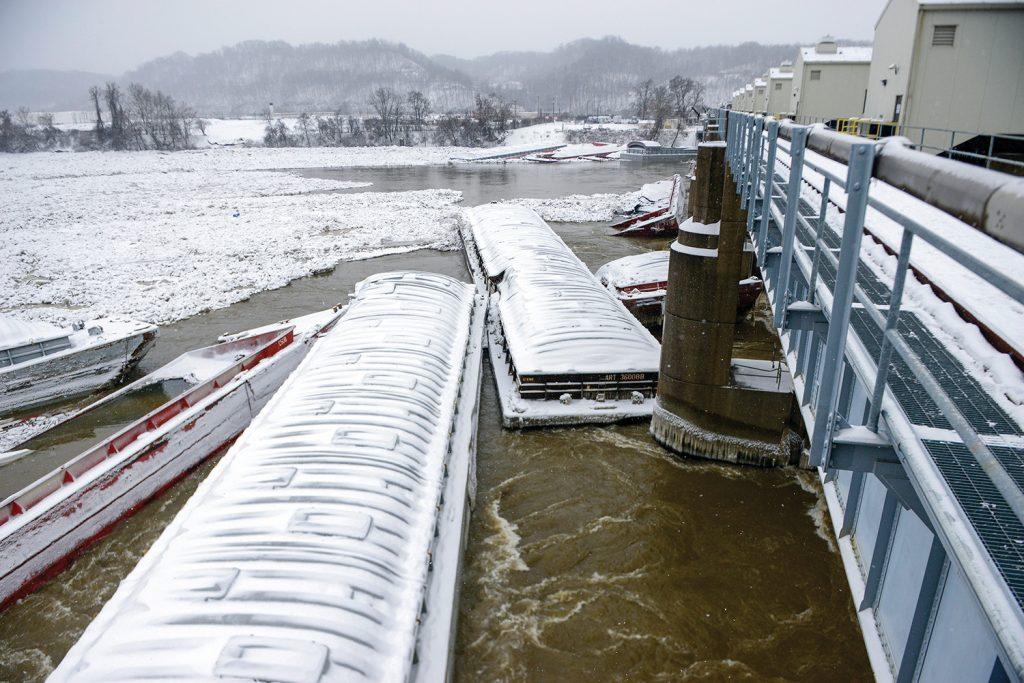 Emsworth Dam barges