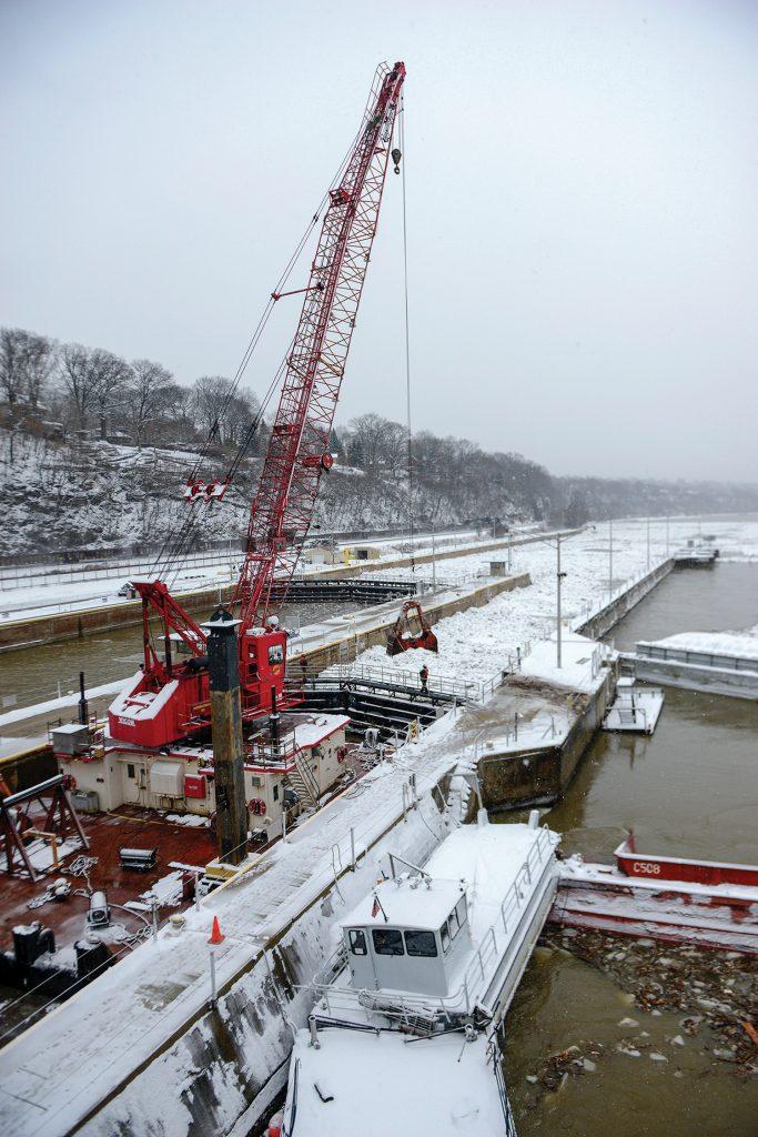 Emsworth Lock ice