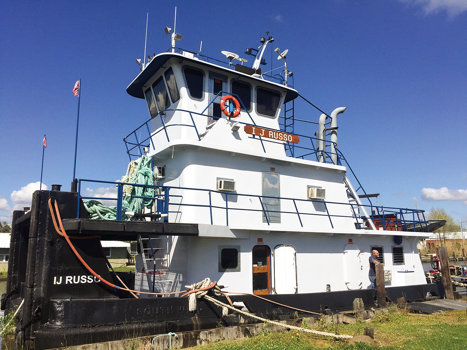 The mv. I.J. Russo has been renamed Clifford H. Galley. It is being rehabbed and will go into service on the Upper Mississippi.