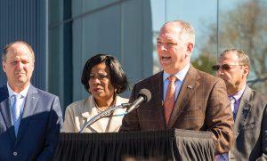 Louisiana Gov. John Bel Edwards speaks at grand opening ceremony.