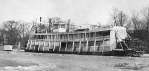 The Black Hawk laid upfor winter in 1918 at the Duck's Nest at Paducah, Ky.