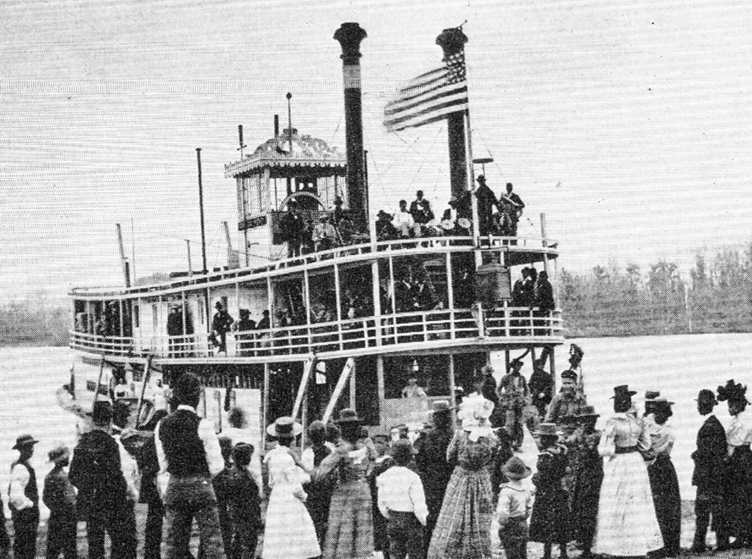The Gracie Kent at an Atchafalaya River landing in 1898.