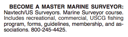 BECOME A MASTER MARINE SURVEYOR