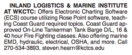 INLAND LOGISTICS & MARINE INSTITUTE AT WKCTC