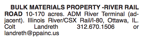 BULK MATERIALS PROPERTY - RIVER RAIL ROAD