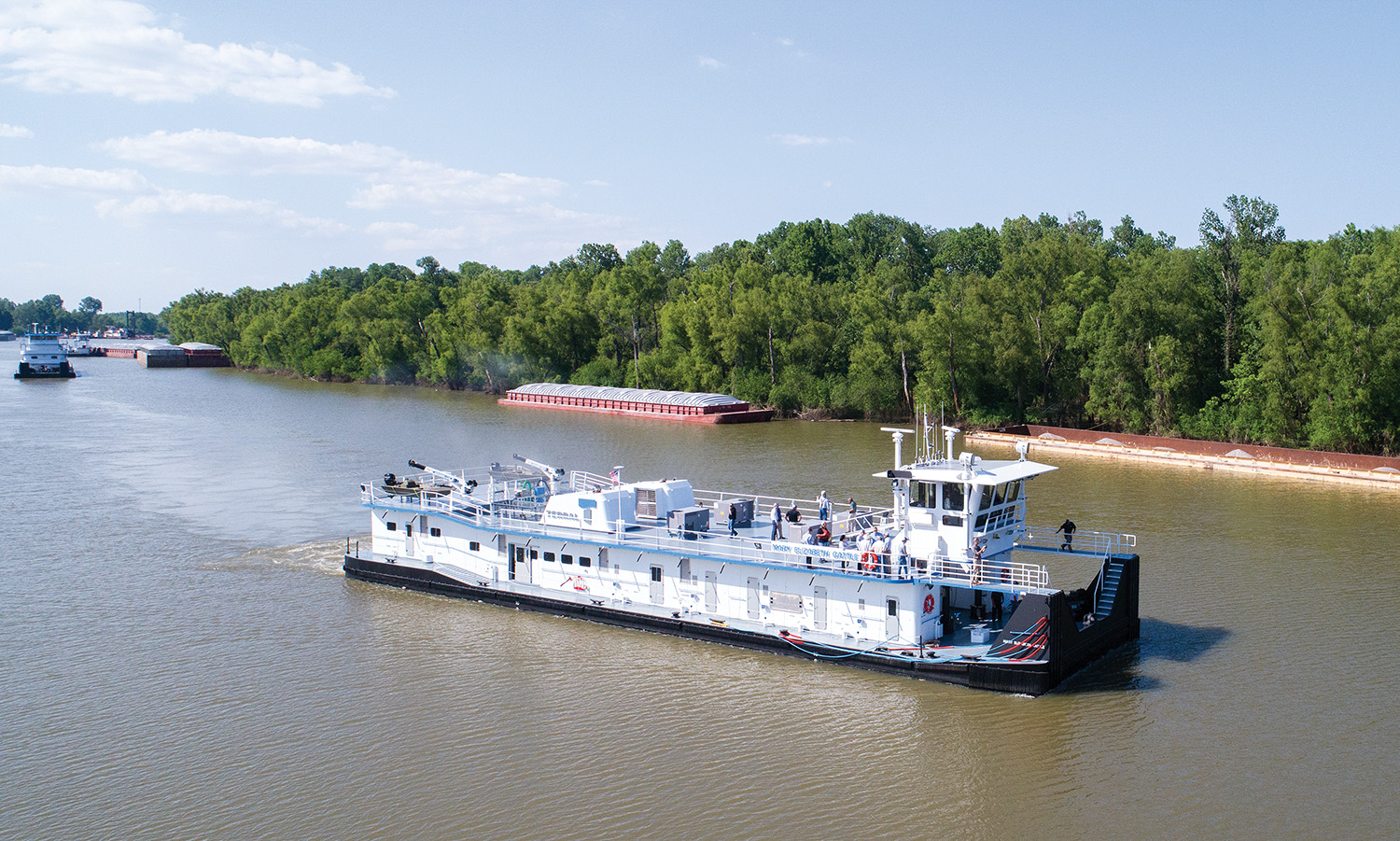 Terral RiverService Christens Mary Elizabeth Gattle