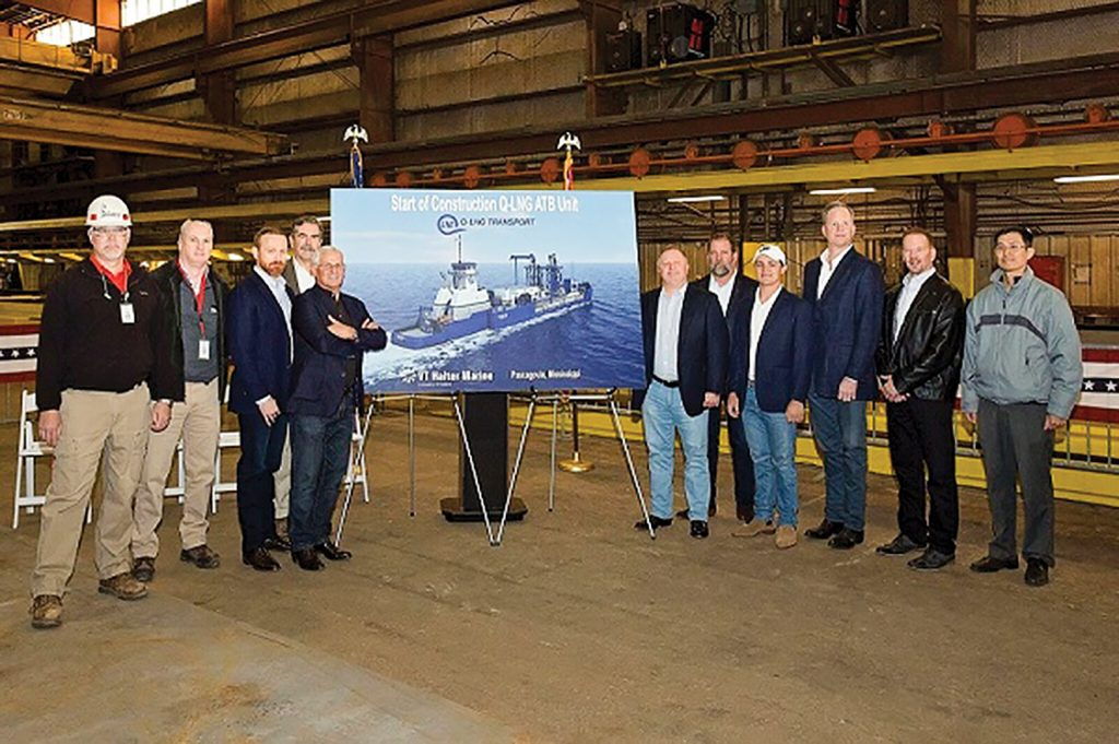 VT Halter Marine held a ceremony March 8 in celebration of America's first LNG ATB barge unit.