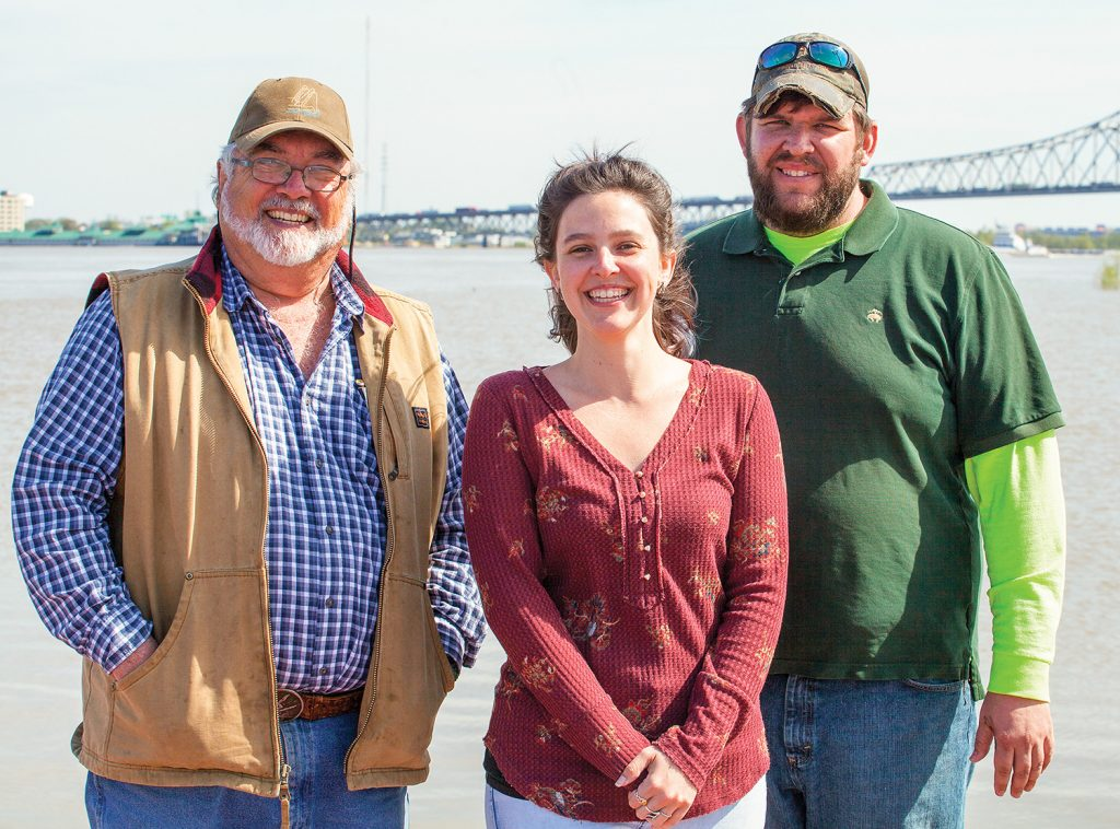 Z. Dave Deloach with his daughter, Elissa, and son, Trenton. (Photo by Frank McCormack)