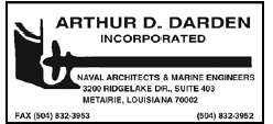 Arthur D. Darden (1 inch) Naval Architects & Marine Engineers