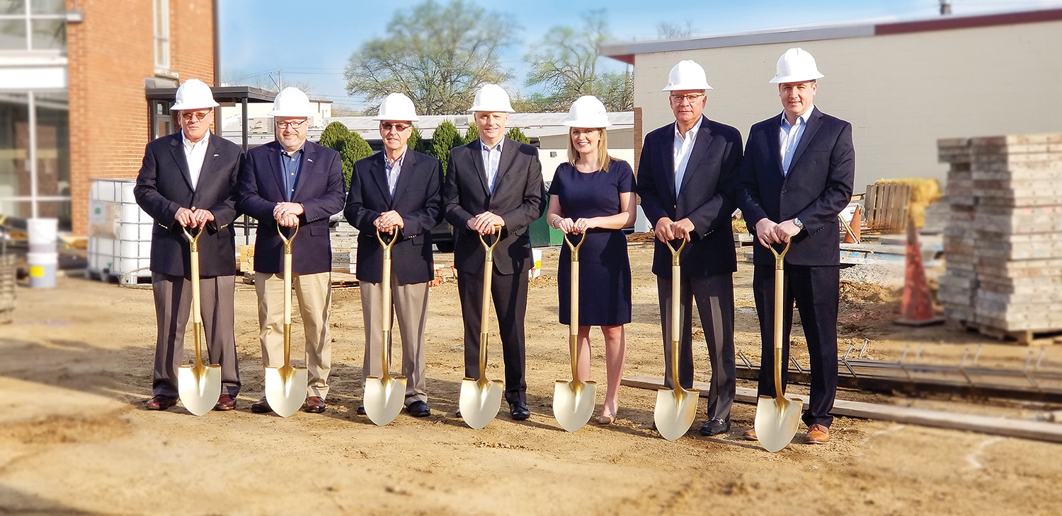 Carboline officials break ground on construction of a new full-scale passive fire protection testing facility. The center will be complete by the end of the year.