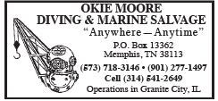 Okie Moore Diving & Marine Salvage (1 inch) Granite City