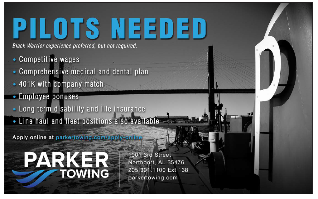Parker Towing (Half) Pilots Needed