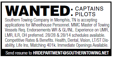 Southern Towing (1 inch) Wanted Captain Pilots