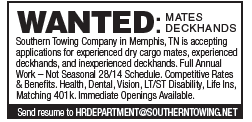 Southern Towing (1 inch) Wanted Mates Deckhands