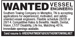 Southern Towing (1 inch) Wanted Vessel Engineers