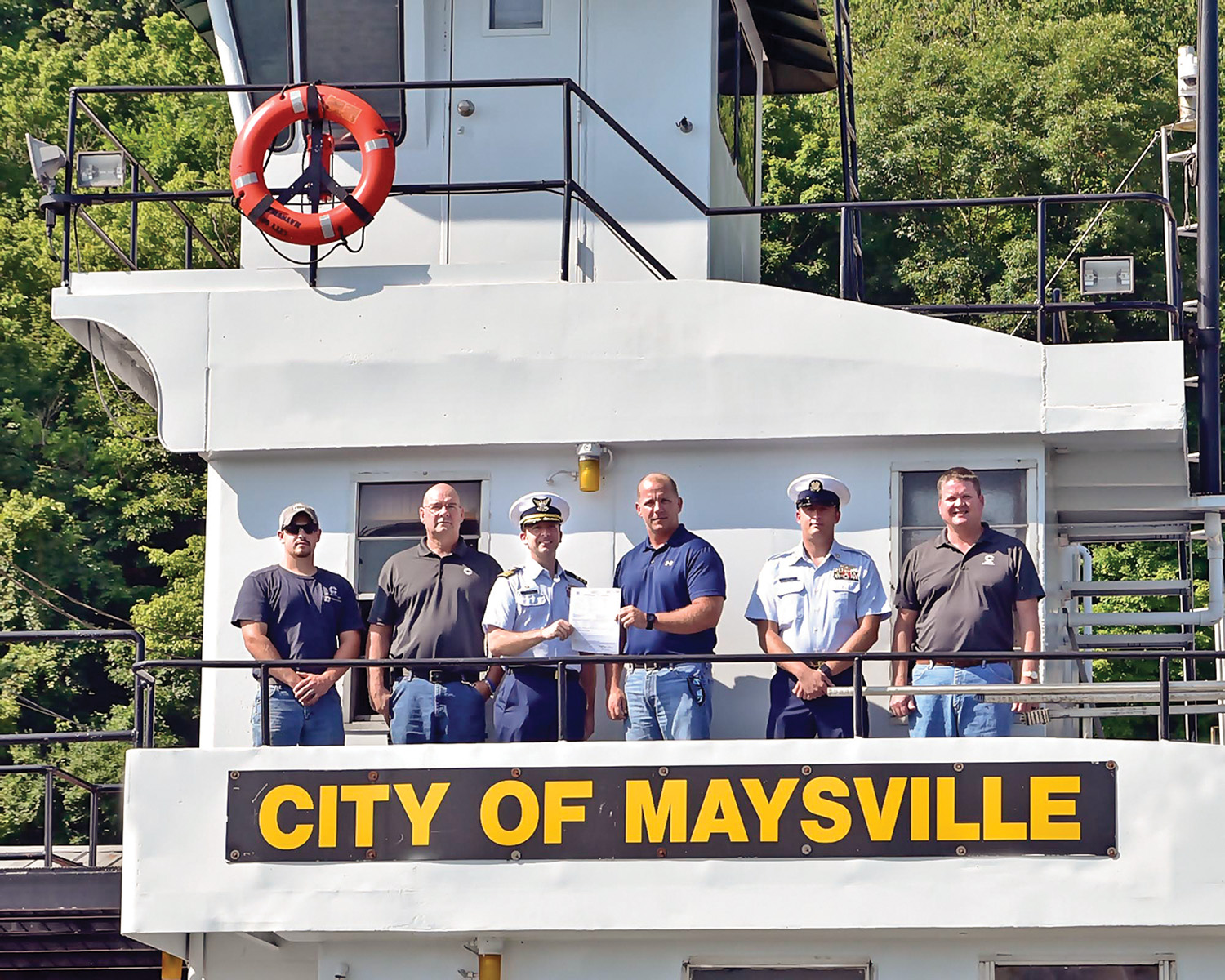 The mv. City of Maysville was the second Crounse vessel to receive a COI.(photo courtesy of the Towing Vessel Inspection Bureau)