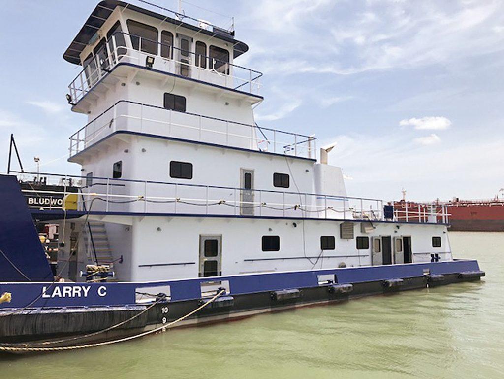 The mv. Larry C was built at John Bludworth Shipyard. (Photo courtesy of Enterprise Marine Services)