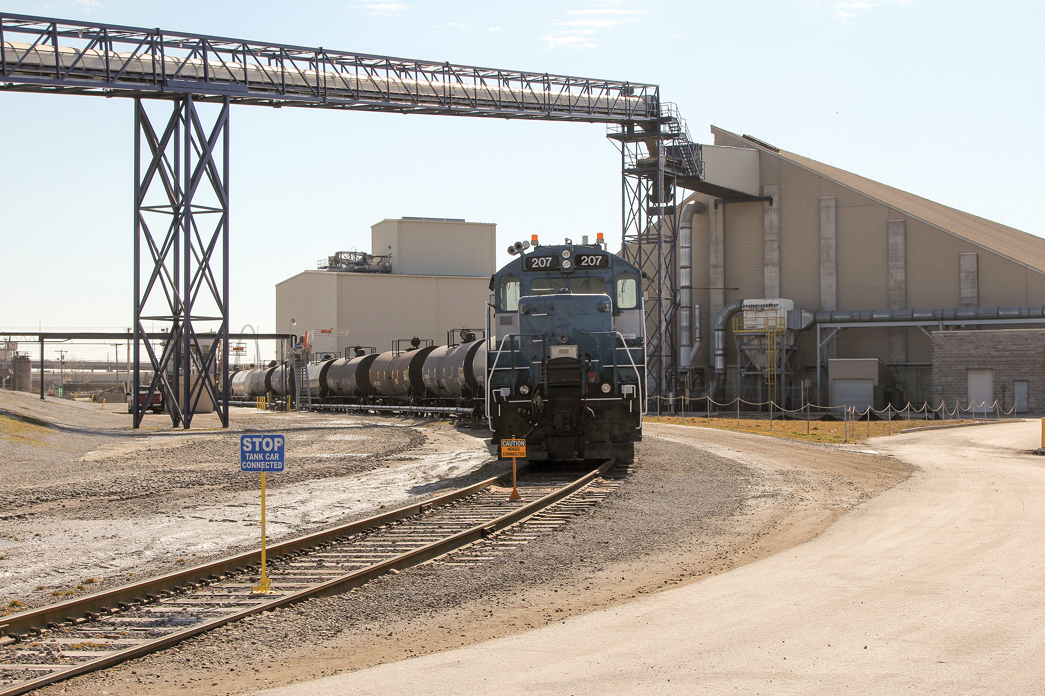 Company's 60-acre site has 23,000 feet of rail.