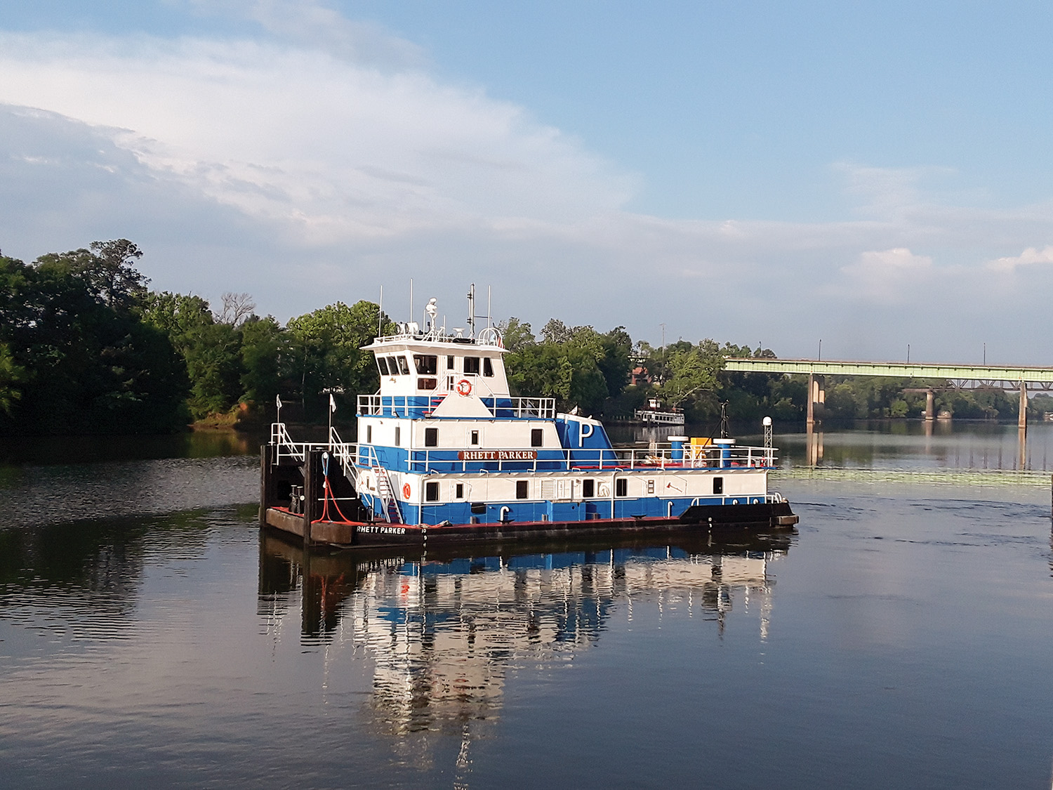 The mv. Rhett Parker was built in 1982 by Mississippi Marine Towboat Corporation.