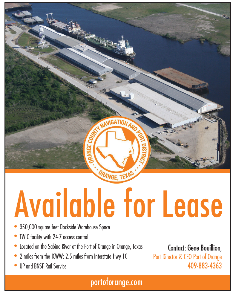 Port of Orange (Quarter) 350,000 square feet dockside warehouse space