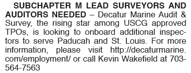 Subchapter M Auditors Needed