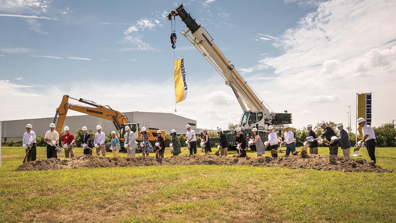 Groundbreaking ceremony for new headquarters facility in Newport News, Va.
