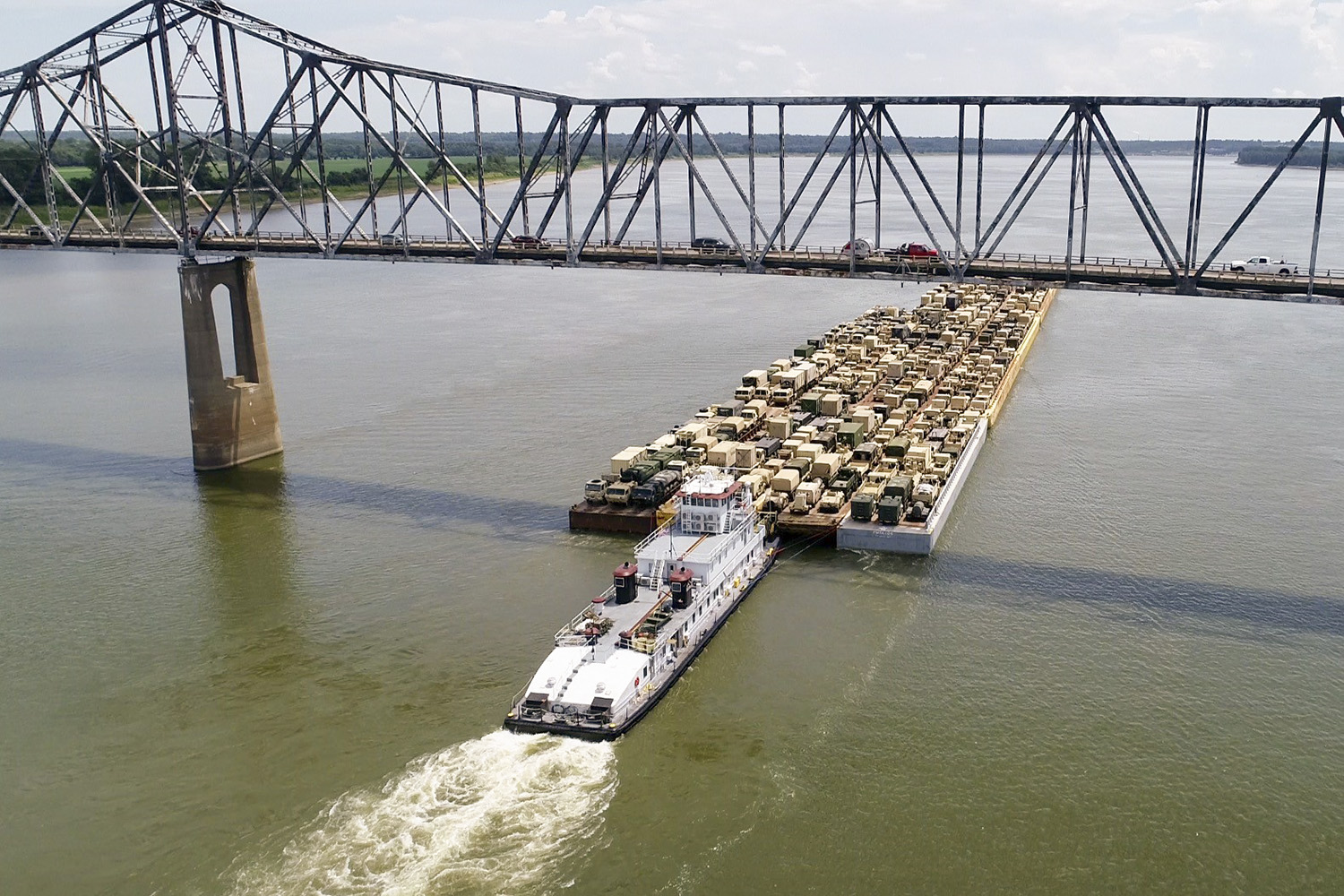Military Equipment Heads To Fort Polk On Barges - The