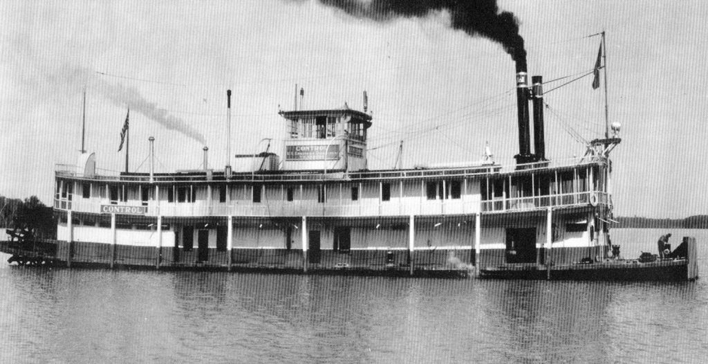The Control (1906-1941) originated as a pleasure steamboat. (Keith Norrington collection)