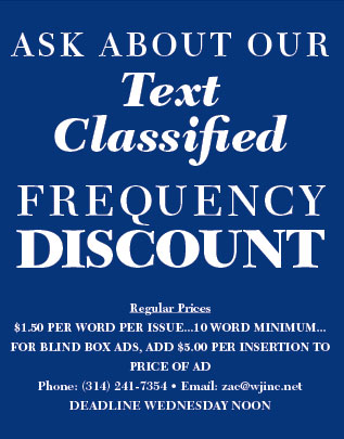 WJ Classifieds (Quarter) Frequency Discount