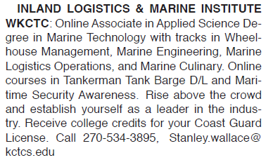 INLAND LOGISTICS & MARINE INSTITUTE APPLIED SCIENCE DEGREE