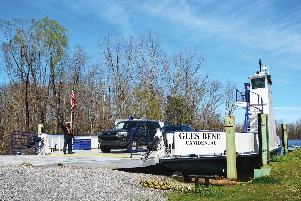 The Gee's Bend Ferry.