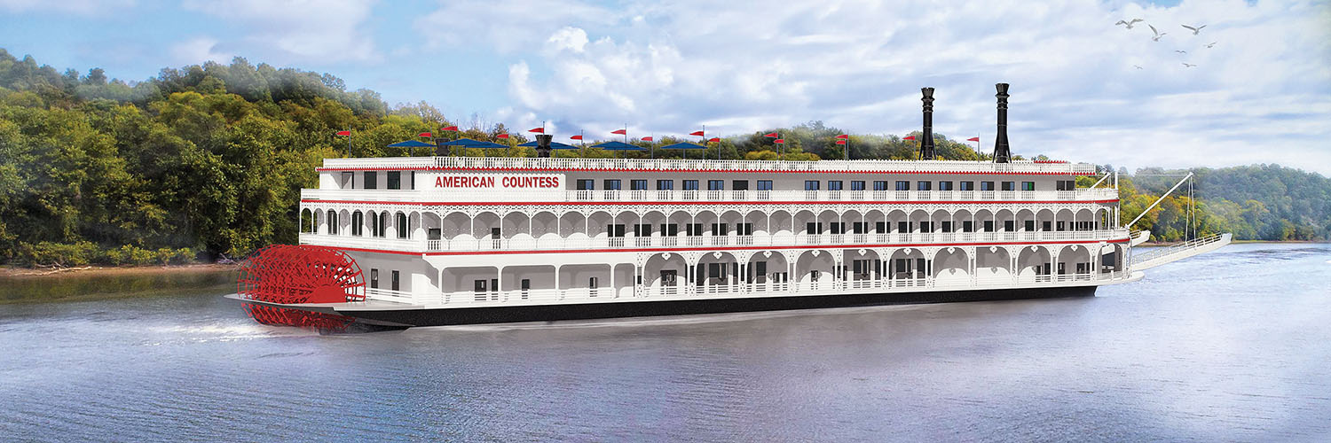 Artist rendering of the American Countess, which will be built on the hull of the former casino vessel Kanesville Queen.