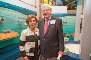 Susan Jones Gundlach and Jimmy Gundlach represented the Eugenie and Joseph Jones Family Foundation at the opening reception. Susan Jones Gundlach's father, Joseph, founded Canal Barge Company and the Jones Walker law firm.