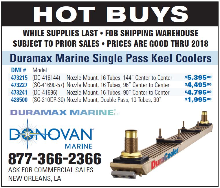 Donovan Marine (Quarter) Duramax Marine Single Pass Keel Coolers