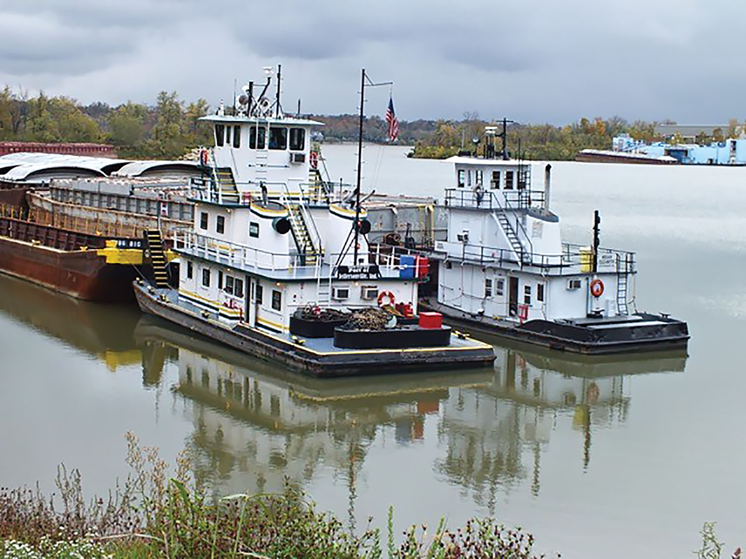 TPG Marine boats at work in Jeffersonville, Ind.
