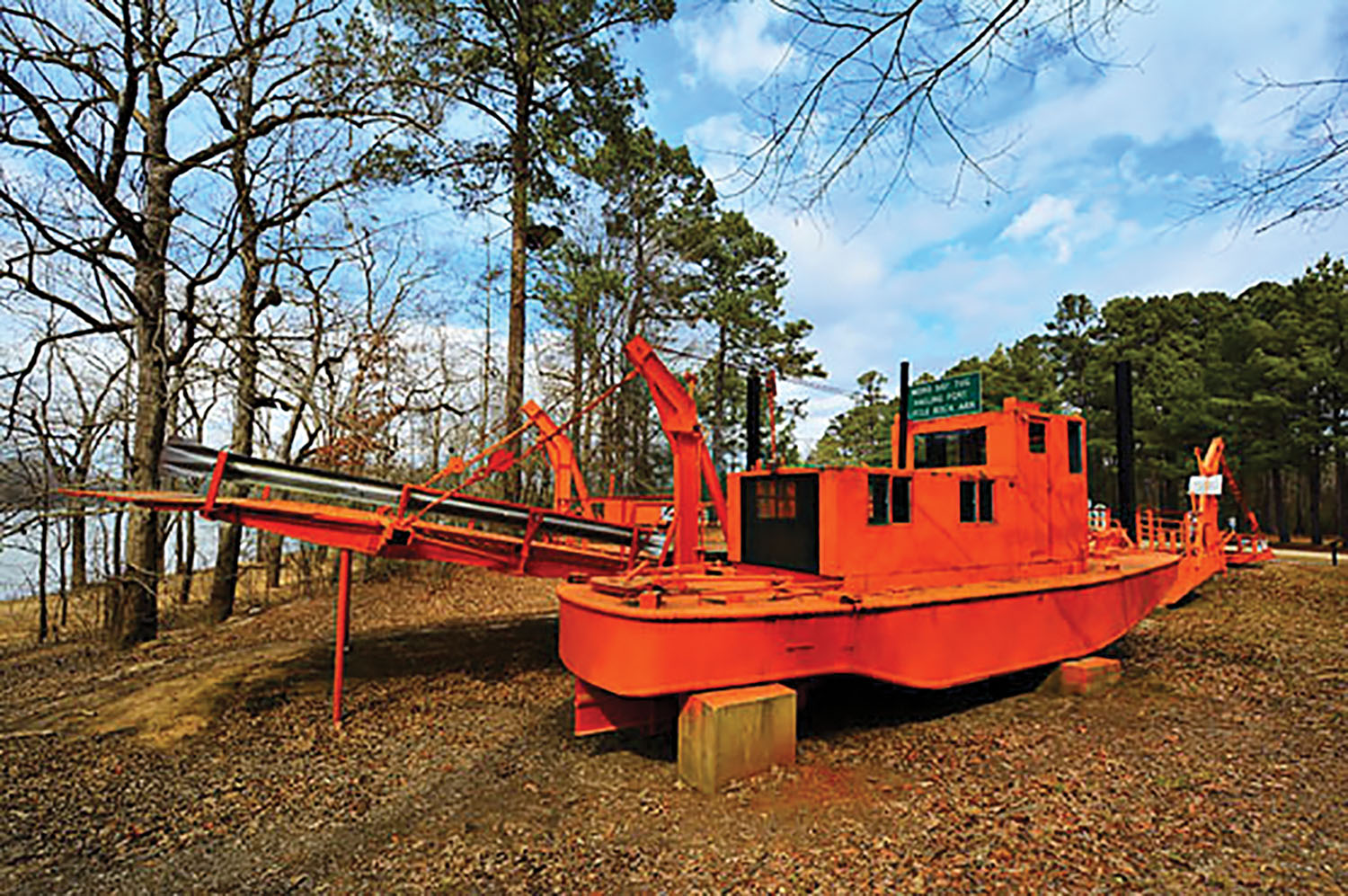 The Moro Bay Ferry towboat, on display in Moro Bay State Park, Ark.