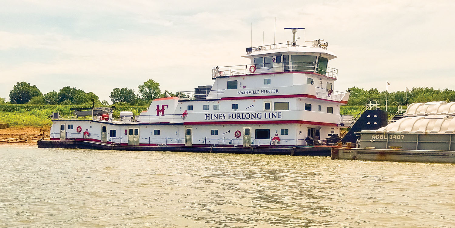 One of the six new boats will be based on the design of the mv. Nashville Hunter. (Photo courtesy of Hines Furlong Line)