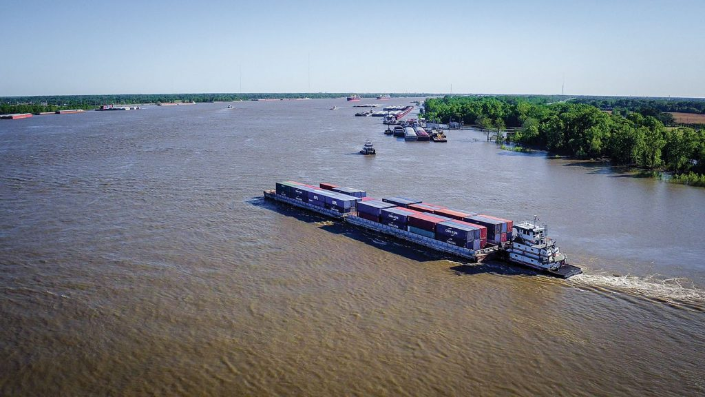 The SEACOR AMH COB shuttle service has nearly doubled in the last year. (Photo courtesy of Port of Greater Baton Rouge)
