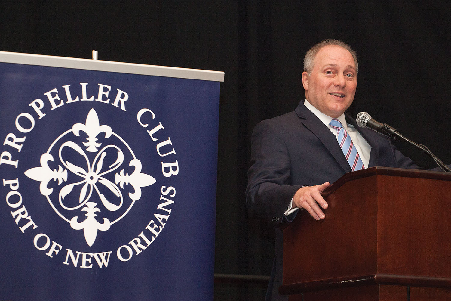 House Majority Whip Steve Scalise was honored by the New Orleans Propeller Club as its maritime person of the year for 2018. (Photo by Frank McCormack)