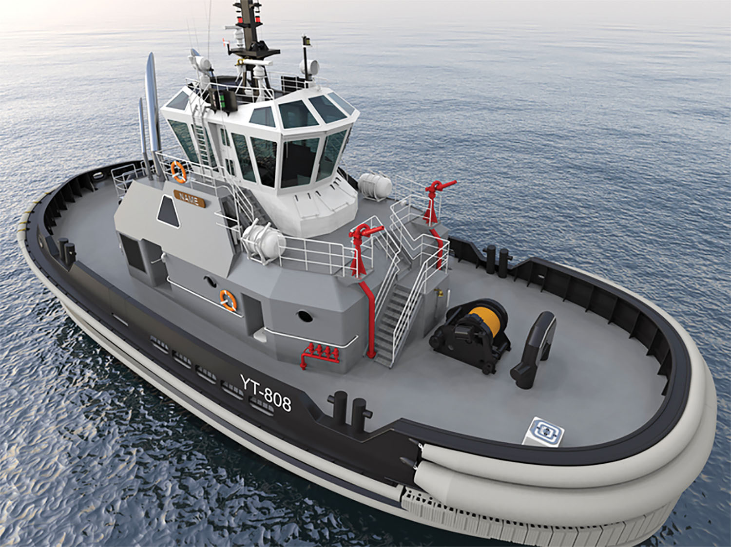 The Navy has ordered four newly designed yard tugs from Washington-based Dakota Creek Industries. They currently plan to deploy the four new tugs at United States military bases in the U.S. Pacific Northwest region and Yokosuka, Japan. (Photo courtesy of Robert Allan Ltd.)