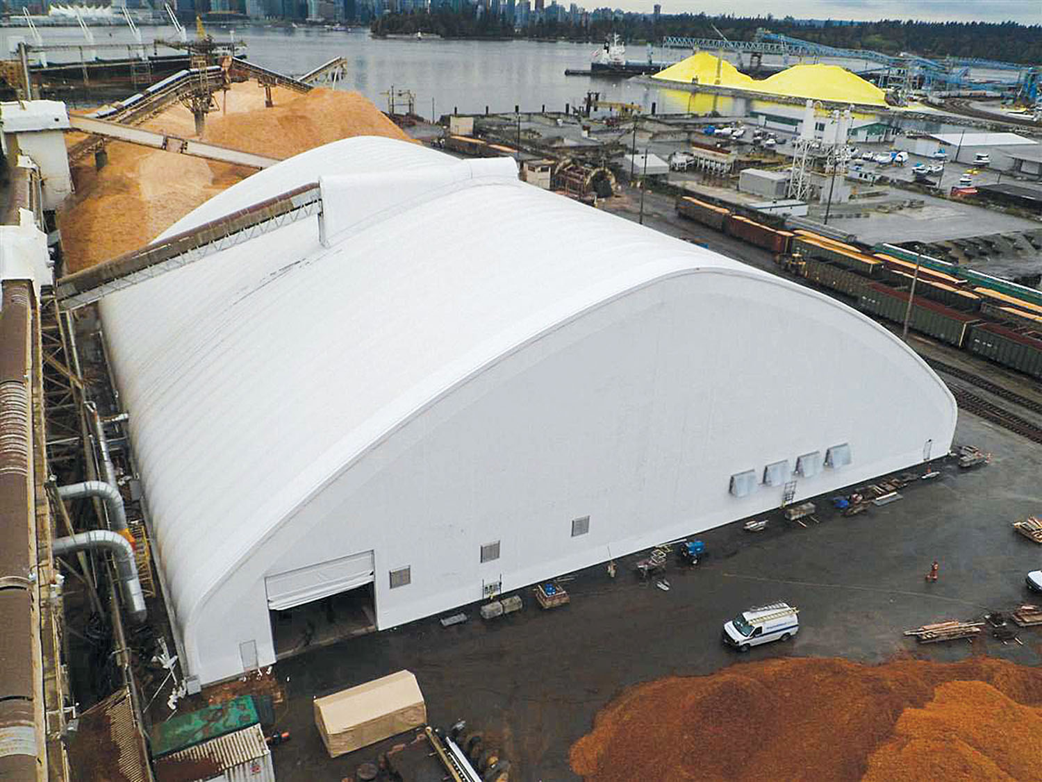 ClearSpan will be exhibiting at next week's International Workboat Show in booth No. 4008. (Photo courtesy of ClearSpan Fabric Structures)