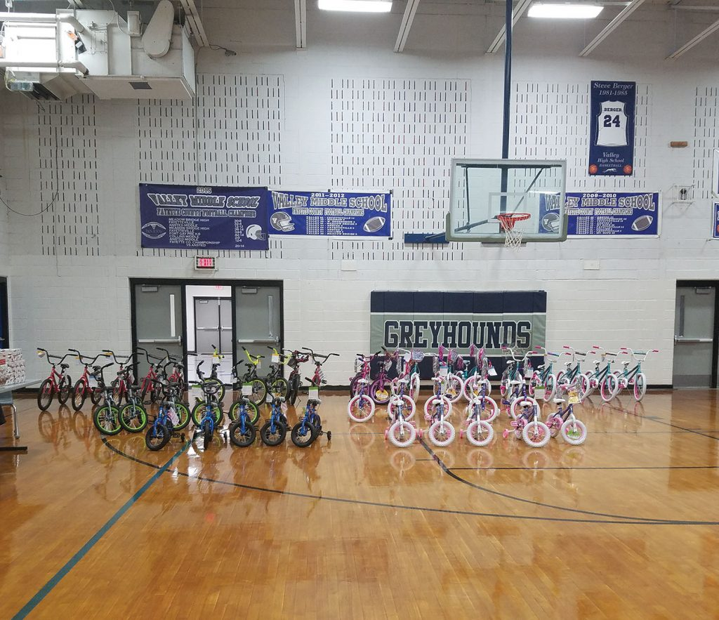 Bikes for this year's annual Christmas giveaway. (Photo courtesy of Anthony Pettry)