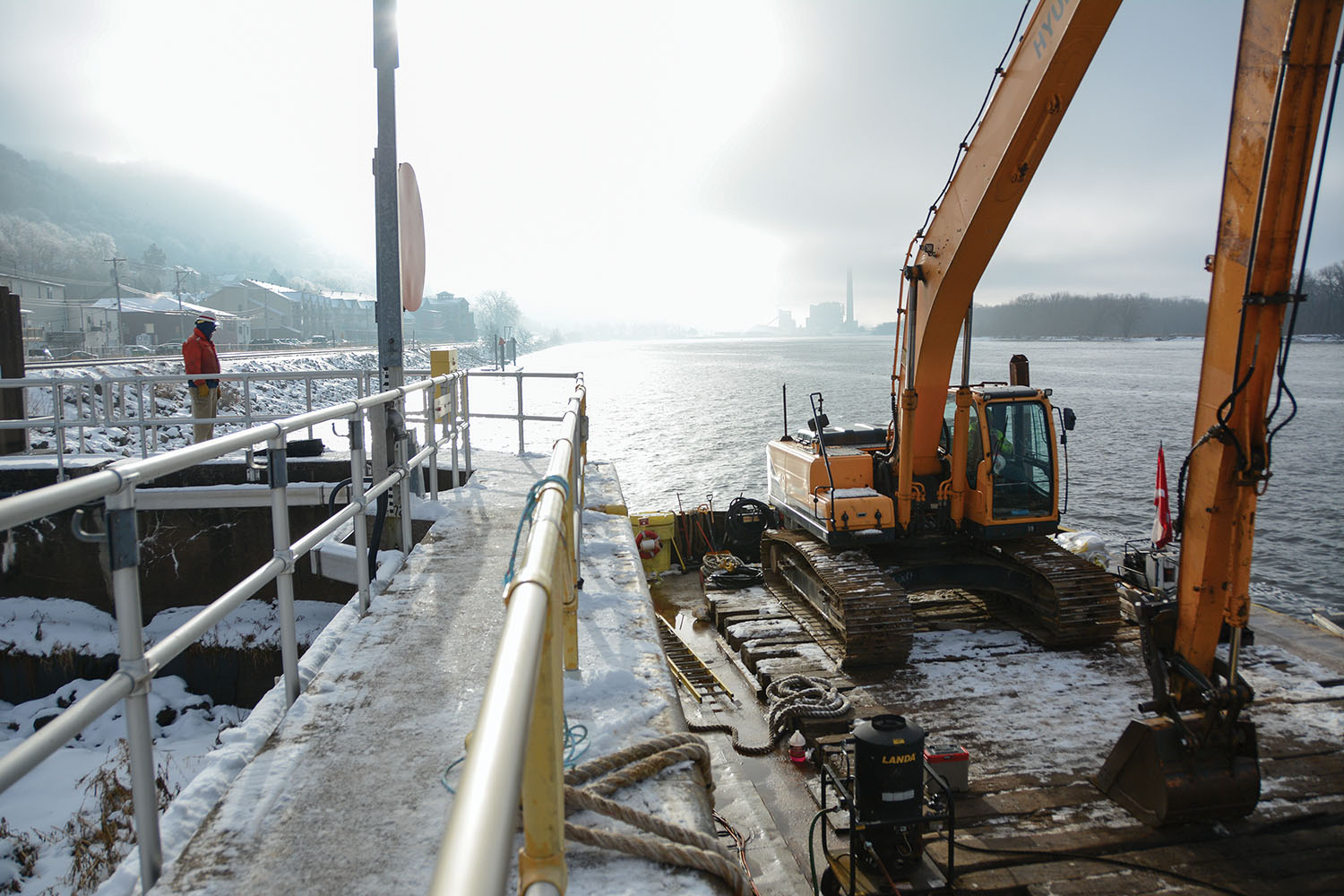 Photo: Repair Work At  Lock 4