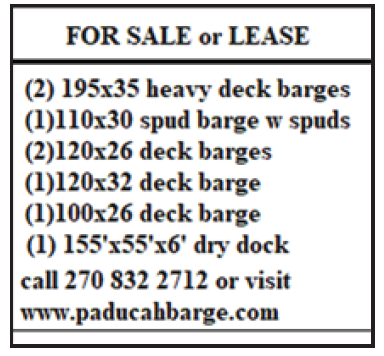 Paducah Barge (2 inch) For Sale or Lease