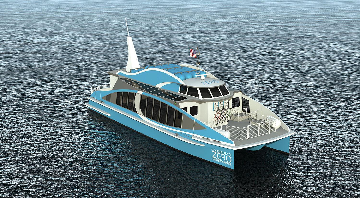 The Water-Go-Round, the new zero-emissions passenger vessel that will be launched this year. (Photo courtesy of Golden Gate Zero Emissions)